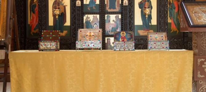 Встреча афонских святынь